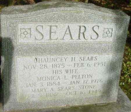SEARS, CHAUNCEY H - Berkshire County, Massachusetts | CHAUNCEY H SEARS - Massachusetts Gravestone Photos
