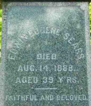 SEARS, EDWIN EUGENE - Berkshire County, Massachusetts | EDWIN EUGENE SEARS - Massachusetts Gravestone Photos