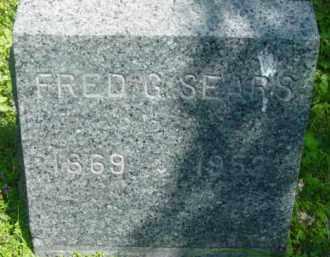 SEARS, FRED G - Berkshire County, Massachusetts | FRED G SEARS - Massachusetts Gravestone Photos