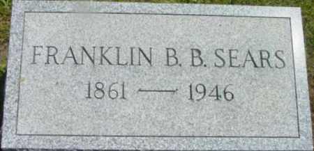 SEARS, FRANKLIN B B - Berkshire County, Massachusetts | FRANKLIN B B SEARS - Massachusetts Gravestone Photos