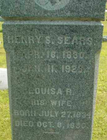 SEARS, HENRY S - Berkshire County, Massachusetts | HENRY S SEARS - Massachusetts Gravestone Photos