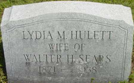 SEARS, LYDIA M - Berkshire County, Massachusetts   LYDIA M SEARS - Massachusetts Gravestone Photos