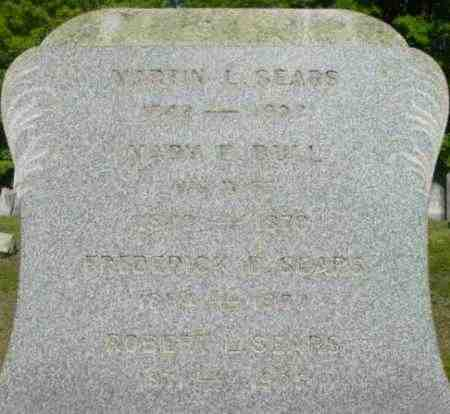 SEARS, FREDERICK D - Berkshire County, Massachusetts | FREDERICK D SEARS - Massachusetts Gravestone Photos