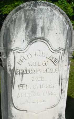 HOWLAND SEARS, POLLY - Berkshire County, Massachusetts | POLLY HOWLAND SEARS - Massachusetts Gravestone Photos