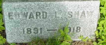 SHAW, EDWARD L - Berkshire County, Massachusetts   EDWARD L SHAW - Massachusetts Gravestone Photos