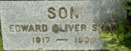 SHAW, EDWARD OLIVER - Berkshire County, Massachusetts | EDWARD OLIVER SHAW - Massachusetts Gravestone Photos