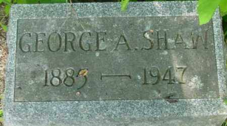 SHAW, GEORGE A - Berkshire County, Massachusetts | GEORGE A SHAW - Massachusetts Gravestone Photos