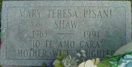 SHAW, MARY TERESA - Berkshire County, Massachusetts | MARY TERESA SHAW - Massachusetts Gravestone Photos