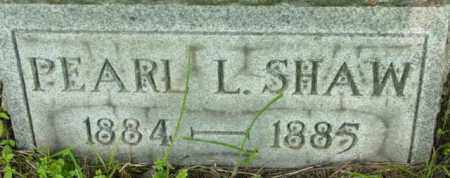 SHAW, PEARL L - Berkshire County, Massachusetts | PEARL L SHAW - Massachusetts Gravestone Photos
