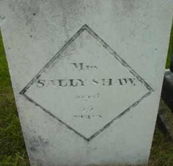 SHAW, SALLY - Berkshire County, Massachusetts | SALLY SHAW - Massachusetts Gravestone Photos