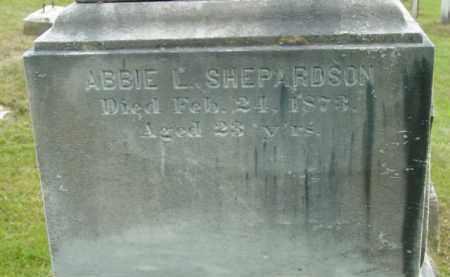 SHEPARDSON, ABBIE L - Berkshire County, Massachusetts   ABBIE L SHEPARDSON - Massachusetts Gravestone Photos