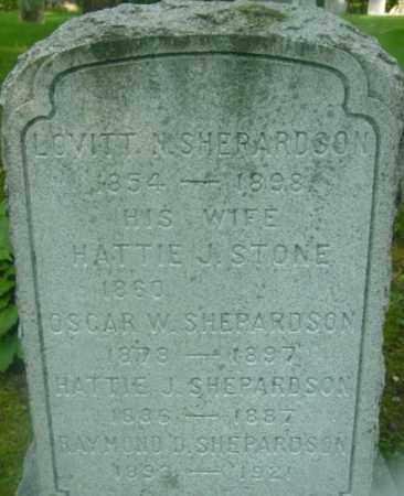 SHEPARDSON, HATTIE J - Berkshire County, Massachusetts | HATTIE J SHEPARDSON - Massachusetts Gravestone Photos