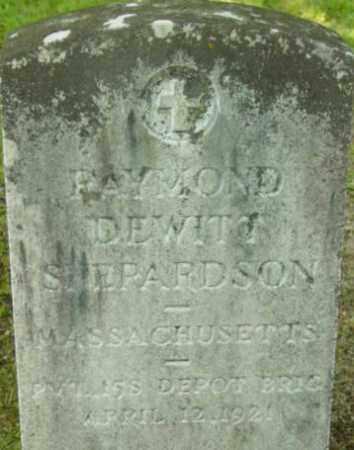SHEPARDSON, RAYMOND DEWITT - Berkshire County, Massachusetts   RAYMOND DEWITT SHEPARDSON - Massachusetts Gravestone Photos