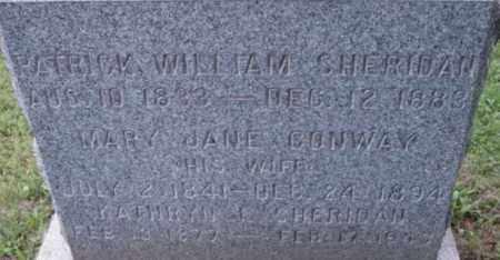CONWAY SHERIDAN, MARY JANE - Berkshire County, Massachusetts | MARY JANE CONWAY SHERIDAN - Massachusetts Gravestone Photos