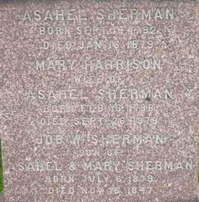 SHERMAN, ASAHEL - Berkshire County, Massachusetts | ASAHEL SHERMAN - Massachusetts Gravestone Photos