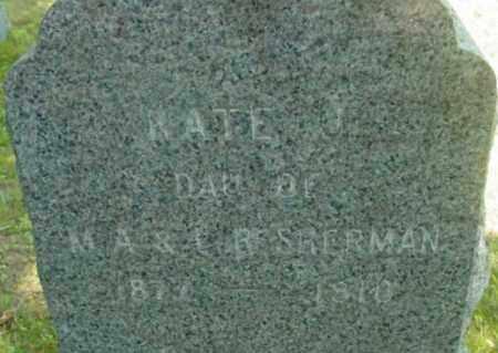 SHERMAN, KATE J - Berkshire County, Massachusetts   KATE J SHERMAN - Massachusetts Gravestone Photos