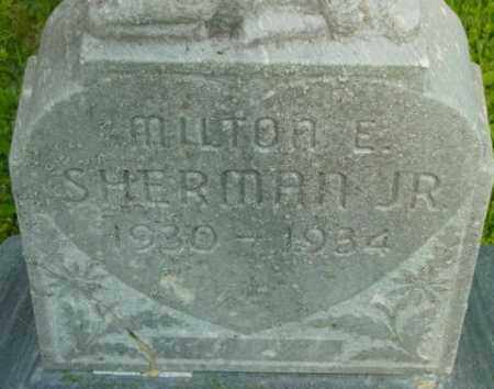 SHERMAN, MILTON E - Berkshire County, Massachusetts | MILTON E SHERMAN - Massachusetts Gravestone Photos