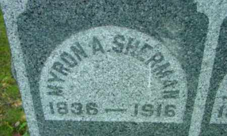 SHERMAN, MYRON A - Berkshire County, Massachusetts   MYRON A SHERMAN - Massachusetts Gravestone Photos