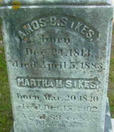 SIKES, AMOS B - Berkshire County, Massachusetts | AMOS B SIKES - Massachusetts Gravestone Photos
