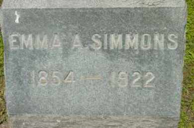 SIMMONS, EMMA A - Berkshire County, Massachusetts | EMMA A SIMMONS - Massachusetts Gravestone Photos
