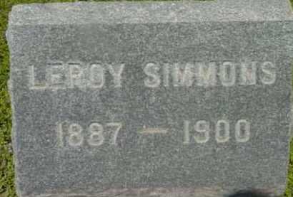 SIMMONS, LEROY - Berkshire County, Massachusetts | LEROY SIMMONS - Massachusetts Gravestone Photos