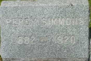SIMMONS, PERCY - Berkshire County, Massachusetts | PERCY SIMMONS - Massachusetts Gravestone Photos