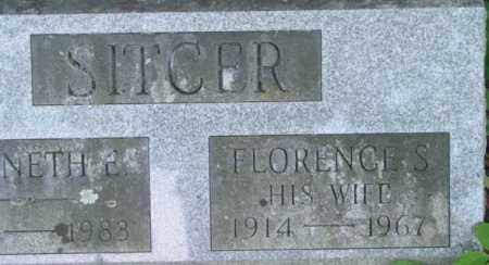 SITCER, FLORENCE S - Berkshire County, Massachusetts | FLORENCE S SITCER - Massachusetts Gravestone Photos