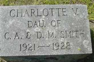 SMITH, CHARLOTTE V - Berkshire County, Massachusetts | CHARLOTTE V SMITH - Massachusetts Gravestone Photos