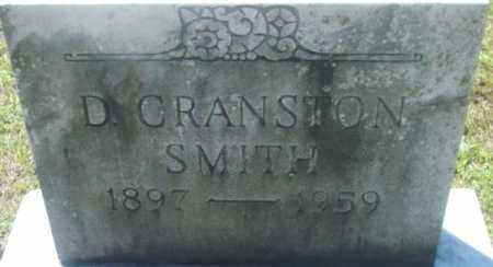 SMITH, D CRANSTON - Berkshire County, Massachusetts | D CRANSTON SMITH - Massachusetts Gravestone Photos