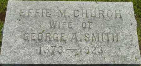 SMITH, EFFIE M - Berkshire County, Massachusetts | EFFIE M SMITH - Massachusetts Gravestone Photos