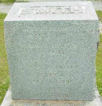 SMITH, MARY A - Berkshire County, Massachusetts   MARY A SMITH - Massachusetts Gravestone Photos