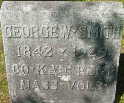 SMITH, GEORGE W - Berkshire County, Massachusetts | GEORGE W SMITH - Massachusetts Gravestone Photos