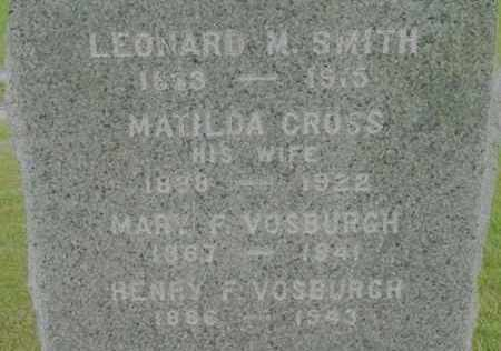 SMITH, LEONARD M - Berkshire County, Massachusetts | LEONARD M SMITH - Massachusetts Gravestone Photos