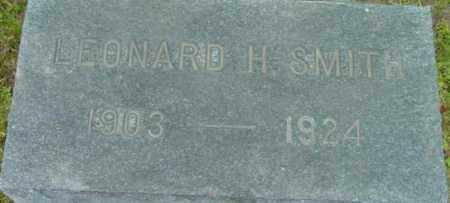 SMITH, LEONARD H - Berkshire County, Massachusetts | LEONARD H SMITH - Massachusetts Gravestone Photos
