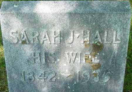 HALL, SARAH J - Berkshire County, Massachusetts   SARAH J HALL - Massachusetts Gravestone Photos
