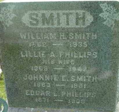 PHILLIPS SMITH, LILLIE A - Berkshire County, Massachusetts | LILLIE A PHILLIPS SMITH - Massachusetts Gravestone Photos
