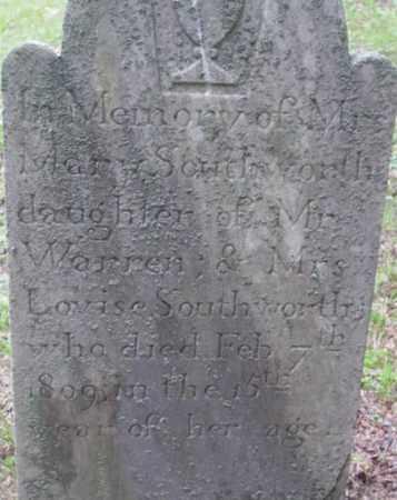 SOUTHWORTH, MARY - Berkshire County, Massachusetts | MARY SOUTHWORTH - Massachusetts Gravestone Photos