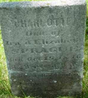SPRAGUE, CHARLOTTE - Berkshire County, Massachusetts | CHARLOTTE SPRAGUE - Massachusetts Gravestone Photos