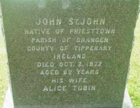 ST. JOHN, ALICE - Berkshire County, Massachusetts | ALICE ST. JOHN - Massachusetts Gravestone Photos