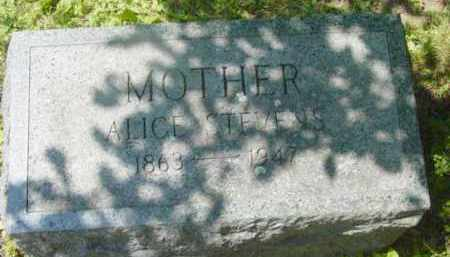 STEVENS, ALICE - Berkshire County, Massachusetts | ALICE STEVENS - Massachusetts Gravestone Photos