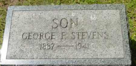 STEVENS, GEORGE F - Berkshire County, Massachusetts | GEORGE F STEVENS - Massachusetts Gravestone Photos