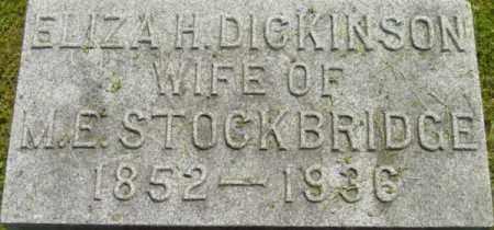 DICKINSON, ELIZA H - Berkshire County, Massachusetts | ELIZA H DICKINSON - Massachusetts Gravestone Photos