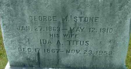 STONE, GEORGE M - Berkshire County, Massachusetts | GEORGE M STONE - Massachusetts Gravestone Photos