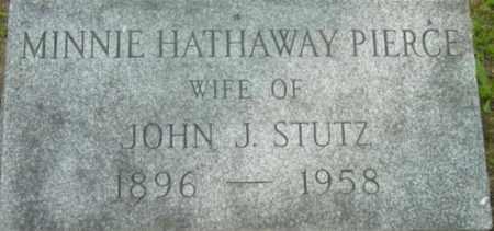 PIERCE, MINNIE HATHAWAY - Berkshire County, Massachusetts   MINNIE HATHAWAY PIERCE - Massachusetts Gravestone Photos