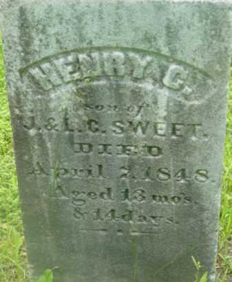 SWEET, HENRY C - Berkshire County, Massachusetts | HENRY C SWEET - Massachusetts Gravestone Photos