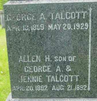 TALCOTT, GEORGE A - Berkshire County, Massachusetts   GEORGE A TALCOTT - Massachusetts Gravestone Photos