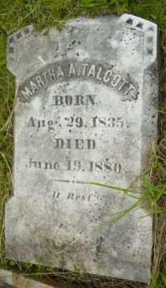TALCOTT, MARTHA A - Berkshire County, Massachusetts   MARTHA A TALCOTT - Massachusetts Gravestone Photos