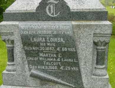 TALCOTT, LAURA LOUISA - Berkshire County, Massachusetts | LAURA LOUISA TALCOTT - Massachusetts Gravestone Photos