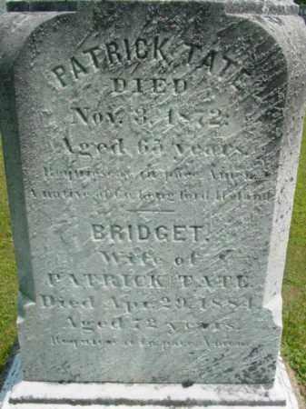 TATE, BRIDGET - Berkshire County, Massachusetts | BRIDGET TATE - Massachusetts Gravestone Photos
