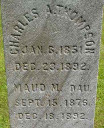 THOMPSON, CHARLES A - Berkshire County, Massachusetts | CHARLES A THOMPSON - Massachusetts Gravestone Photos